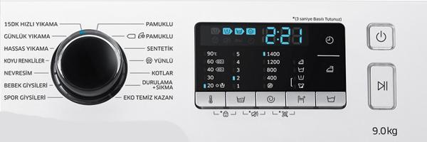 Samsung WW90J5475FW AH Ekran